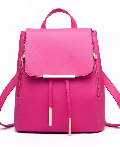 Fashion Leather Backpack School Bags 05