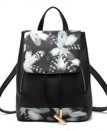 Fashion Leather Backpack School Bags 01