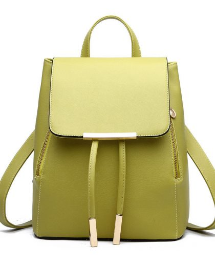 Fashion Leather Backpack School Bags 06