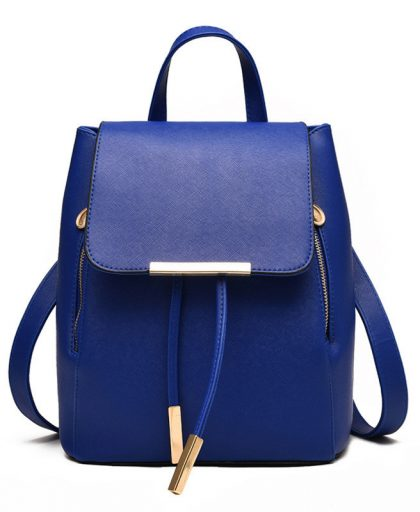 Fashion Leather Backpack School Bags 04