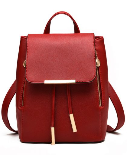 Fashion Leather Backpack School Bags 09