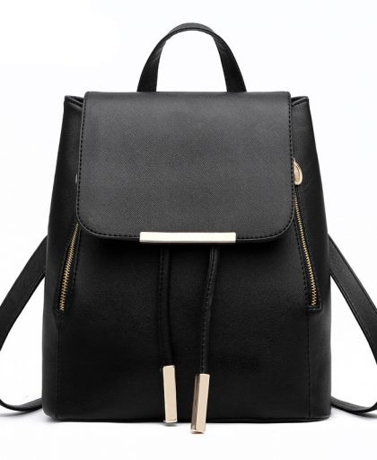Fashion Leather Backpack School Bags 02