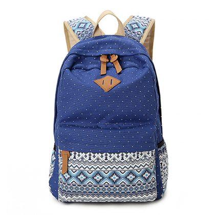 Vintage School Bags Printing Backpack