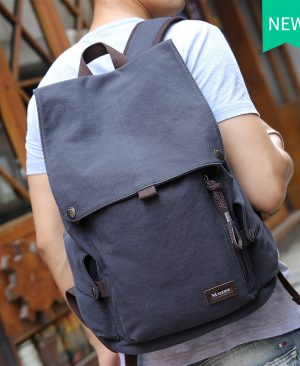 Male Canvas Backpack Travel Bag