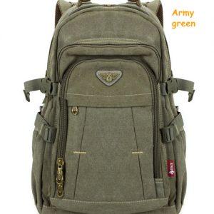 Man's Canvas Backpack Travel Schoolbag