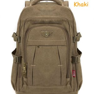 Man's Canvas Backpack Travel Schoolbag