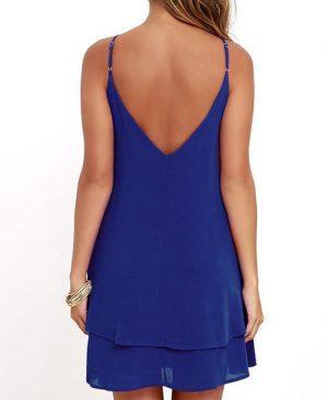 Backless Chiffon Dress