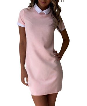 Summer Dress Robe Women Collar Short