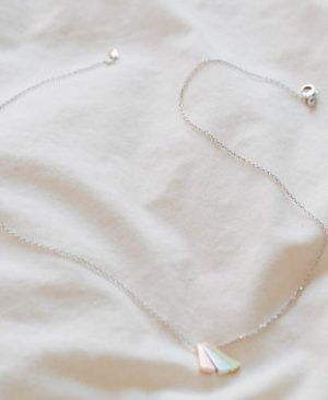Triangle Necklaces Bridesmaid Jewelry