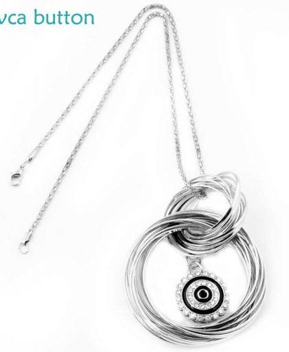 Snap Button Necklace