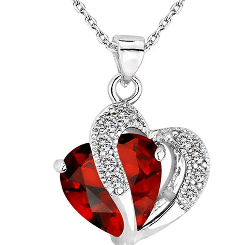 Heart pendant necklace crystal jewelry lalbug heart pendant necklace aloadofball Gallery