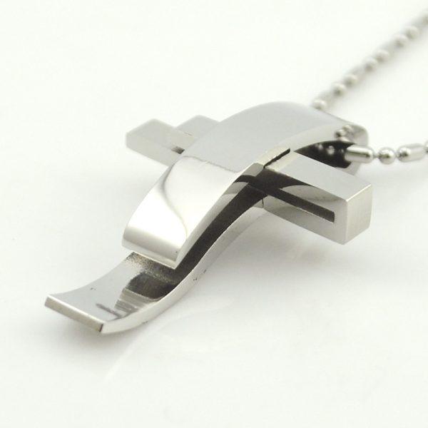 Steel Pendant Necklace
