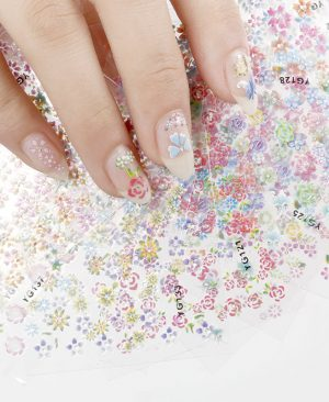 Flowers Nail Stickers 3D Nail Art Decorations