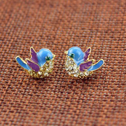 Pigeon Stud Earrings