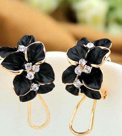 Drip Stud Earrings Black