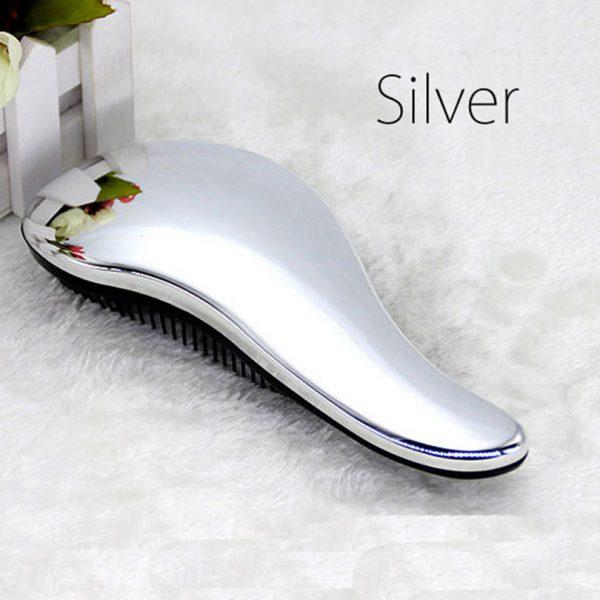Magic Hair Brush Handle Purple Silver