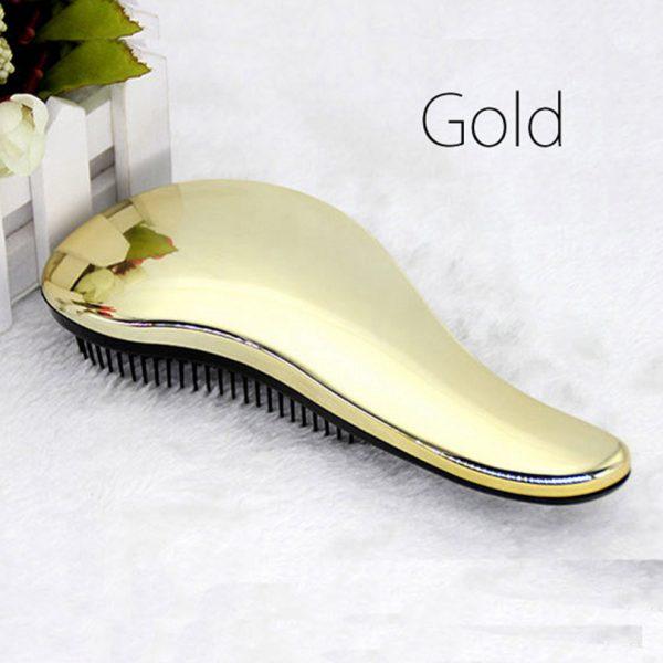 Magic Hair Brush Handle Purple Gold