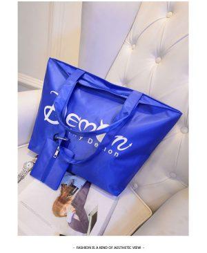 Women Shopping Handbag blue