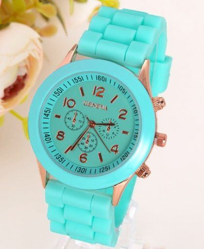 Classic Silicone Women Watch 08