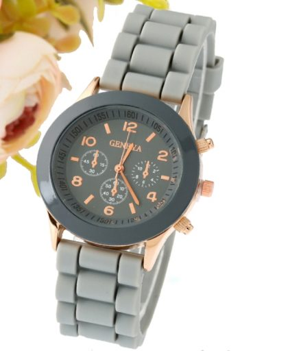 Classic Silicone Women Watch 07