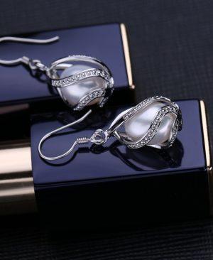 Pearl drop earrings Pearl Jewelry Choker