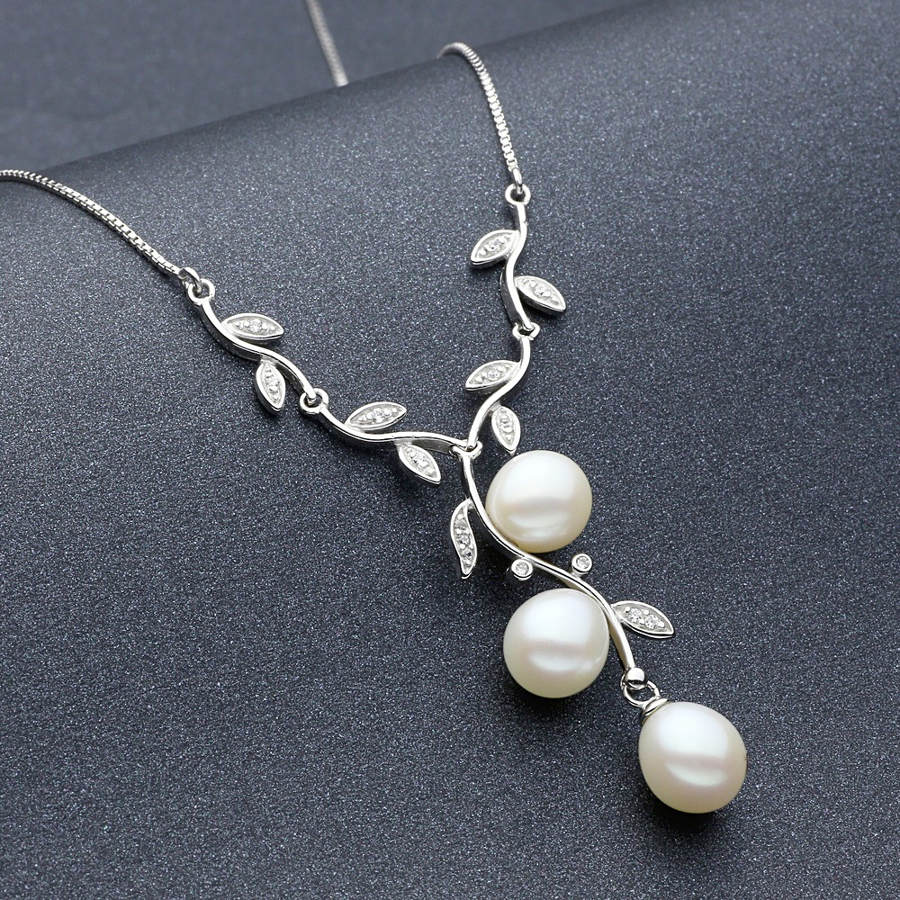 Freshwater Pearls Necklace 925 Sterling Silver Lalbug Com
