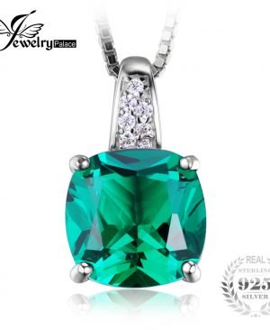Emerald Solitaire Pendant Jewelry