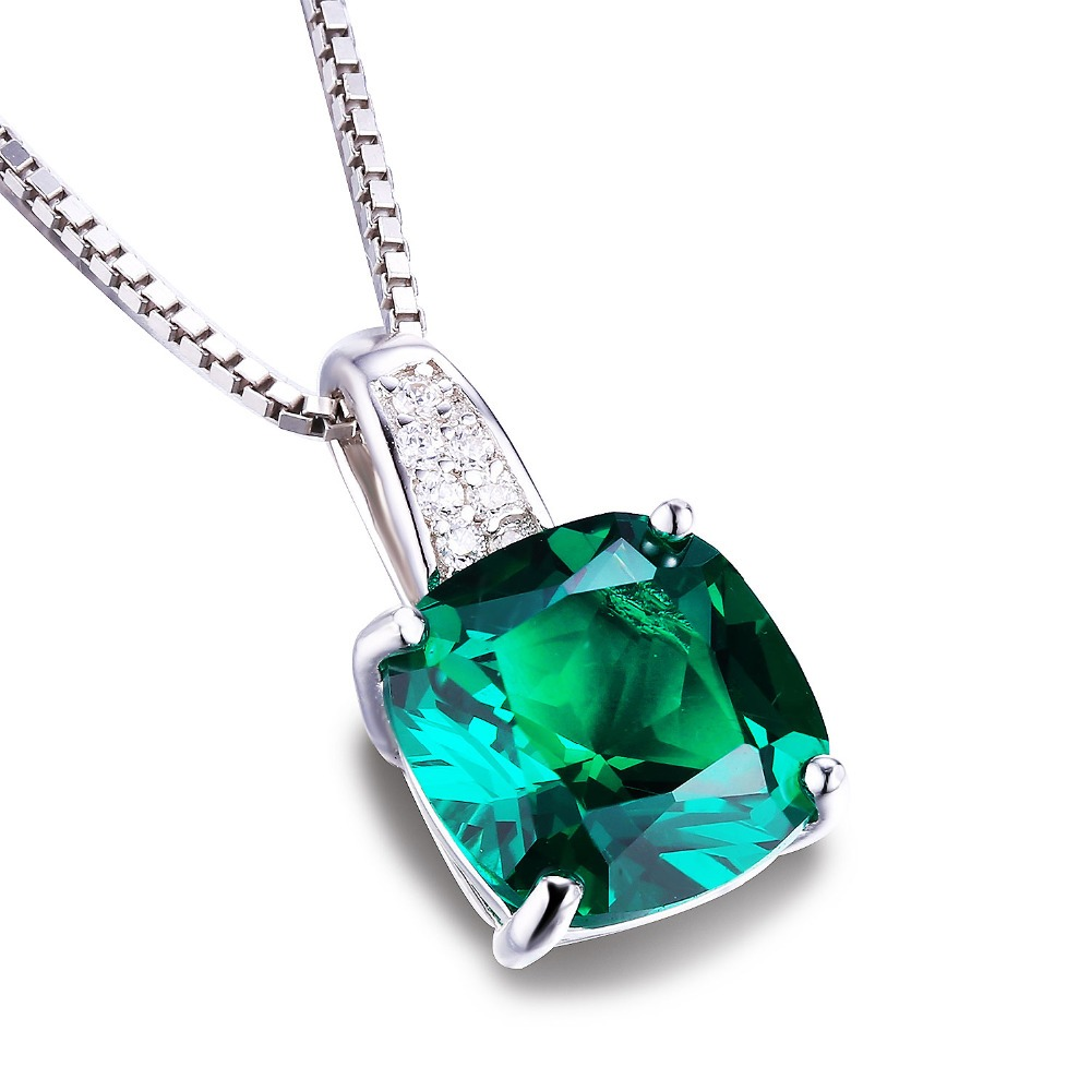 Emerald necklaces pendants silver 925 jewelry lalbug emerald necklaces pendants aloadofball Choice Image