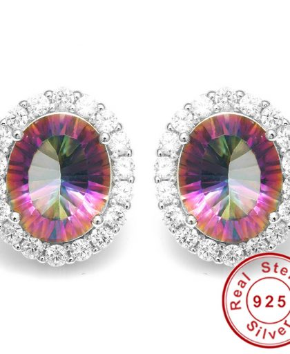 Rainbow Fire Mystic Topaz Earrings