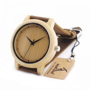 Quartz Watches Natural Bamboo Watch