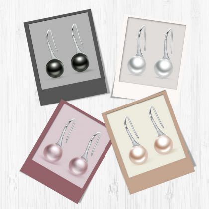 Love Pearl Drop Earrings