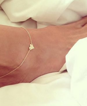 Heart Female Anklets