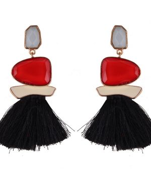 Fringed Statement Earrings