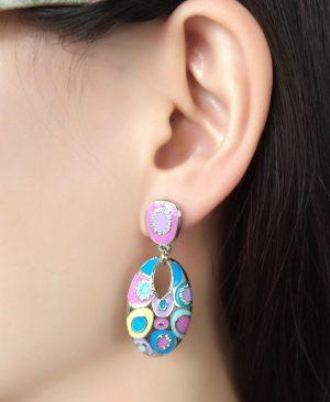 Long Round Earrings