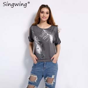 Feather Printed T-shirts