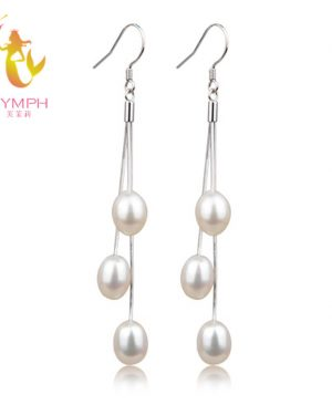 Natural Pearl Earrings Real Freshwater Pearl