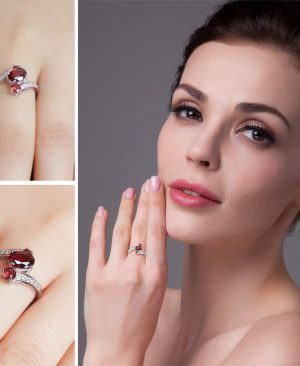 Genuine Garnet Ring