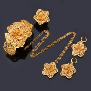 Vintage Big Flower Jewelry