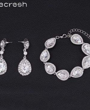 Bridal Bracelet Earrings