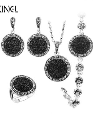 Stone Wedding Jewelry Sets