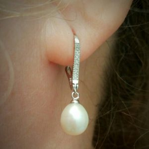 Drop Natural Pearl Earrings