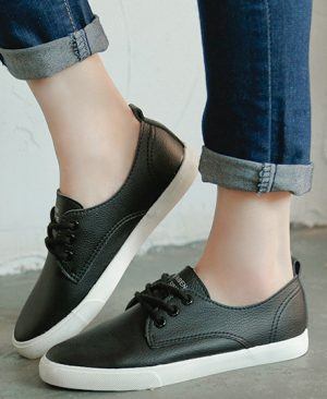 Leather Women Shoe