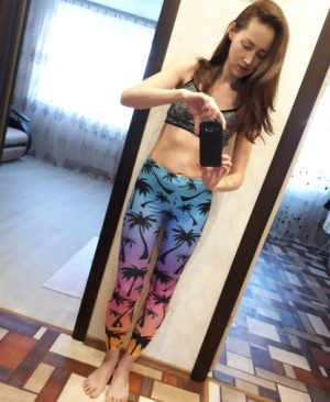 Waist Woman Leggings