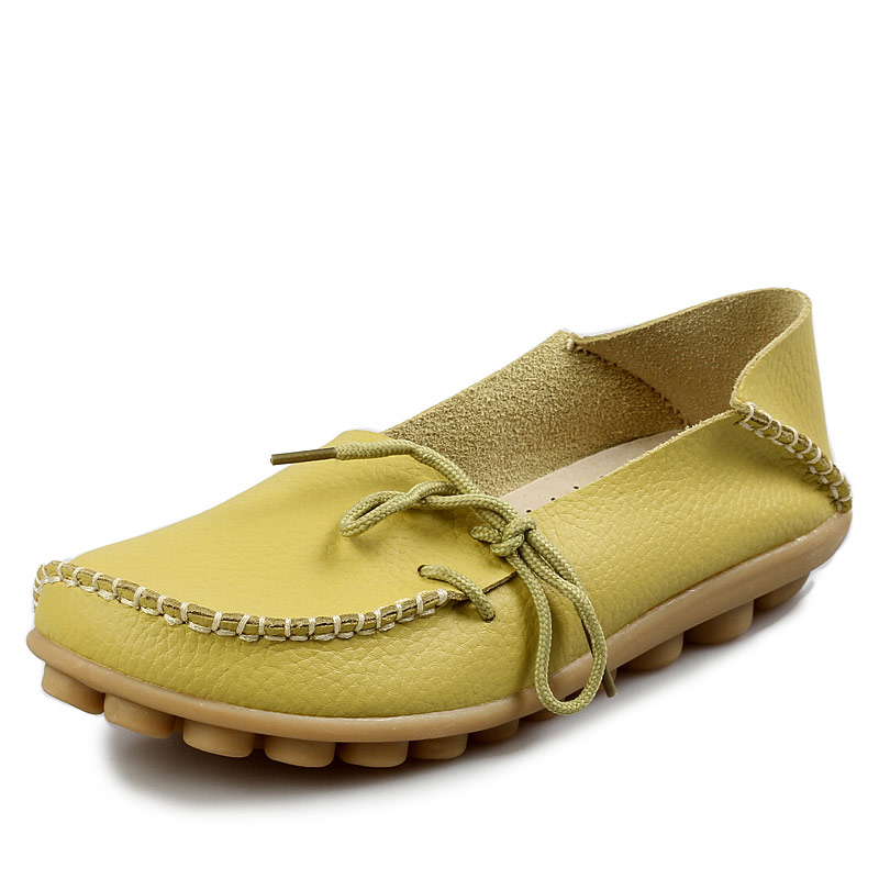 e2af0989f96 Women Real Leather Shoe Mother Loafers Soft - Lalbug.com