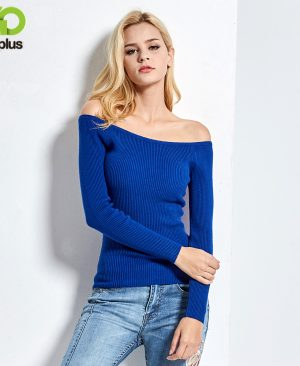 Neckline Strapless Sweater