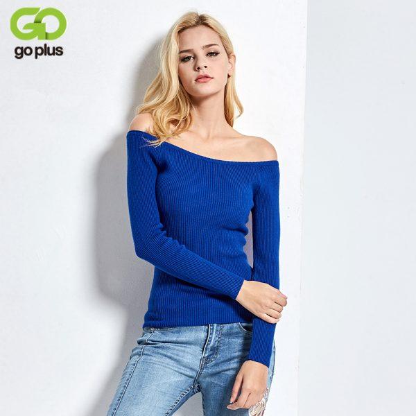 Neckline Strapless Sweater