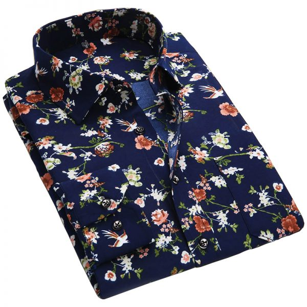 Floral Print Men Shirts