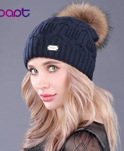 Fur Pompon Hat