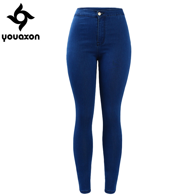 b65dc413 High Waist Skinny Denim Pants Women Jean