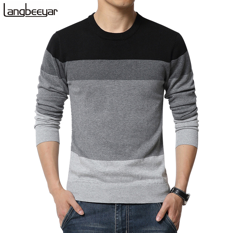Casual Sweater O-Neck Striped Men Pullovers - Lalbug.com